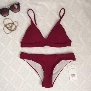 🌹Deep Red Tiny Bikini